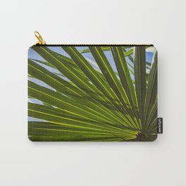 Colorized Wide Palm Leaves Nature / Botanical Photo #tropical #decor #art #society6 Carry-All Pouch