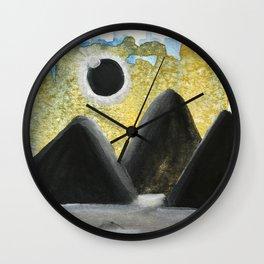 Solar Eclipse Dreams Wall Clock