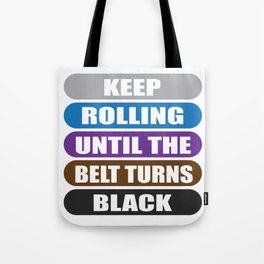 Judo Karate Belt Go On Black Gift Tote Bag
