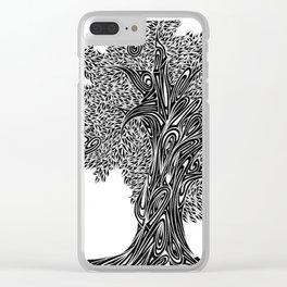 Gnarled Oak Tree Clear iPhone Case