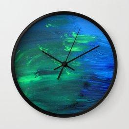 Pour Away the Ocean Wall Clock