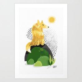 Mellow Confidence Art Print