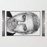 jem Area & Throw Rugs featuring George Clooney in 2009 by JMcCombie