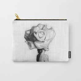 The woman with the head of a rose - Christy Turlington Carry-All Pouch