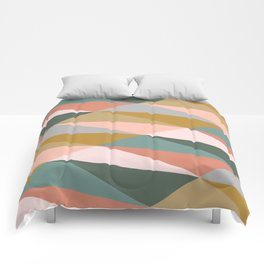 Earthy Diagonals Comforters