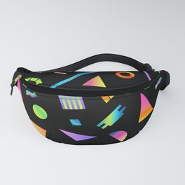 Neon Gradient Postmodern Shapes Fanny Pack