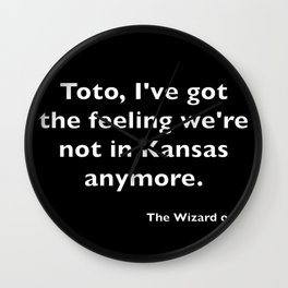 The Wizard of ... Quote Wall Clock