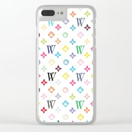 Weed Couture Multicolor Clear iPhone Case