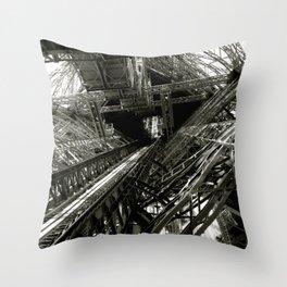 Eiffel Guts Throw Pillow