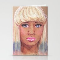 nicki Stationery Cards featuring Onika by Angelica