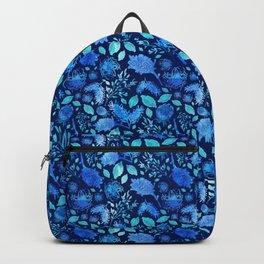 Pretty Australian Native Floral Print - Lovely Blue Backpack