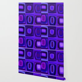 Violets in Blue Windows Wallpaper