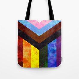 Progress Pride Quilt Tote Bag