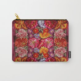 """Rose Huipil Embroidered"" Carry-All Pouch"