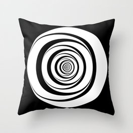 Black White Circles Optical Illusion Throw Pillow