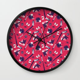 Tools of a Hockey Player Wall Clock