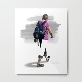 Border Walk Metal Print