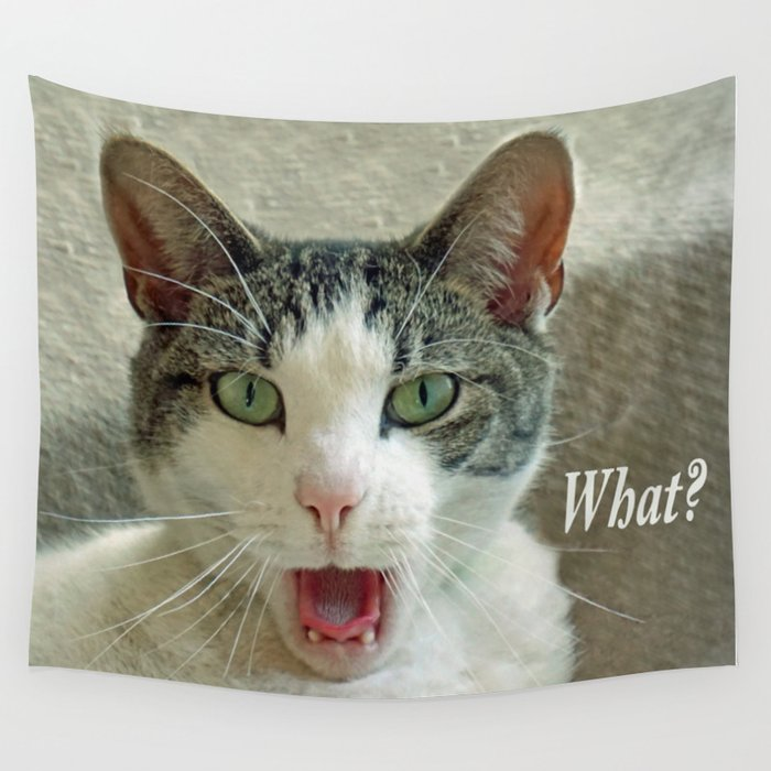 CAT TALK Wall Tapestry