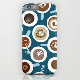 Gimme Coffee—Coffee Your Way | Teal iPhone Case