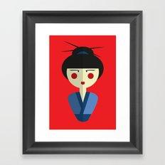 Japanese Doll Framed Art Print