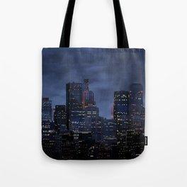 Night city panorama Tote Bag