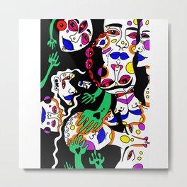 the neon heads Metal Print