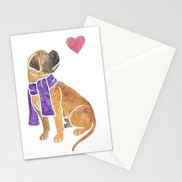 Watercolour Bullmastiff Stationery Cards