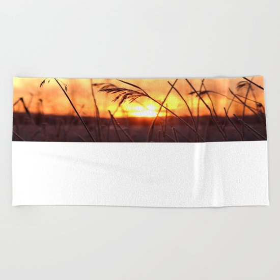 Winter Sunrise  Beach Towel