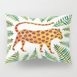 Jaguar – Green Leaves Pillow Sham
