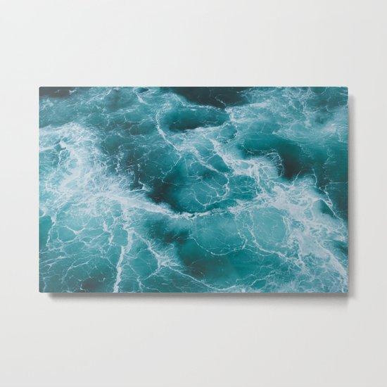 Electric Ocean Metal Print