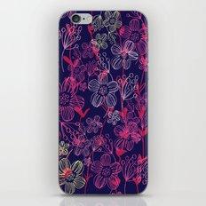 chalk flowers iPhone Skin