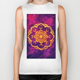 """Witchcraft""  WATERCOLOR MANDALA (HAND PAINTED) BY ILSE QUEZADA Biker Tank"