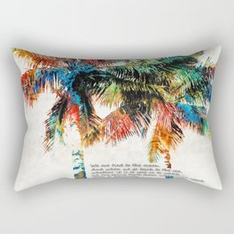 Colorful Palm Trees - Returning Home - By Sharon Cummings Rectangular Pillow