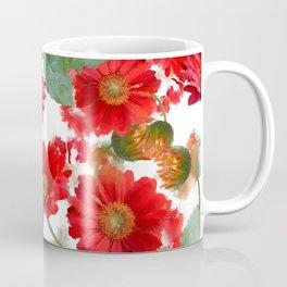 seamless   pattern of gerbera flowers . Endless texture Coffee Mug