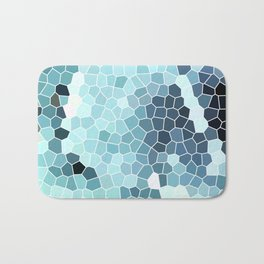 Turquoise Abstract Mosaic Art   Spring Bath Mat