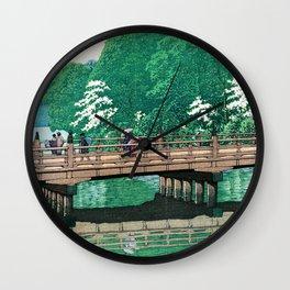 Kawase Hasui - Akasaka, Benkei Bridge - Digital Remastered Edition Wall Clock