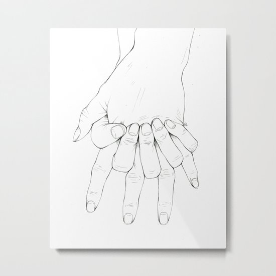 Untitled Hands No.6 Metal Print