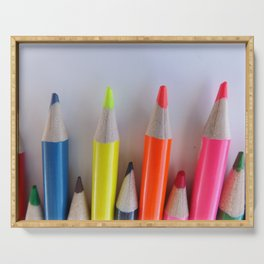 Colored Pencil Tips Serving Tray