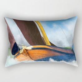 Stormy weather skutsje sailing ship Rectangular Pillow