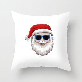 Cool Santa Christmas Is Cool Holiday Vacation Gift Throw Pillow