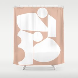 Shape study #16 - Inside Out Collection Shower Curtain