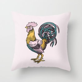 Rooster's year Throw Pillow