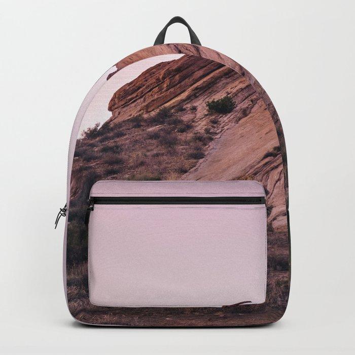 Desert Landscape at Magic Hour Backpack