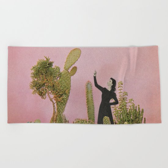 The Wonders of Cactus Island Beach Towel
