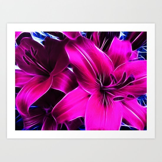 Lily the Pink Art Print