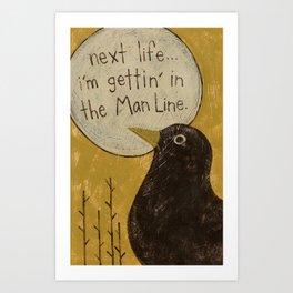 Overheard - Man Line Art Print