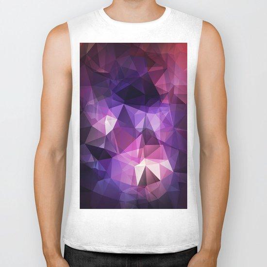 Stylish geometrical print with polygonal triangles Biker Tank