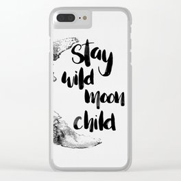 Stay Wild Moon Child Watercolor Clear iPhone Case