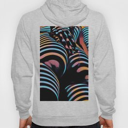 1937s-AK Striped Woman Hand Down Back Bum Butt Abstract Nude Female Ass Hoody