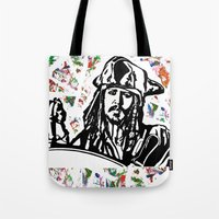 jack sparrow Tote Bags featuring Jack Sparrow....Captain Jack Sparrow.. by Kramcox